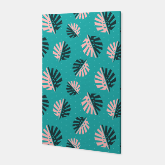 Miniatur Monstera Pattern Design Canvas, Live Heroes