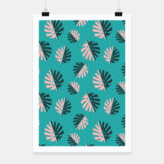 Miniatur Monstera Pattern Design Poster, Live Heroes