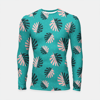 Thumbnail image of Monstera Pattern Design Longsleeve rashguard , Live Heroes