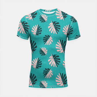 Thumbnail image of Monstera Pattern Design Shortsleeve rashguard, Live Heroes
