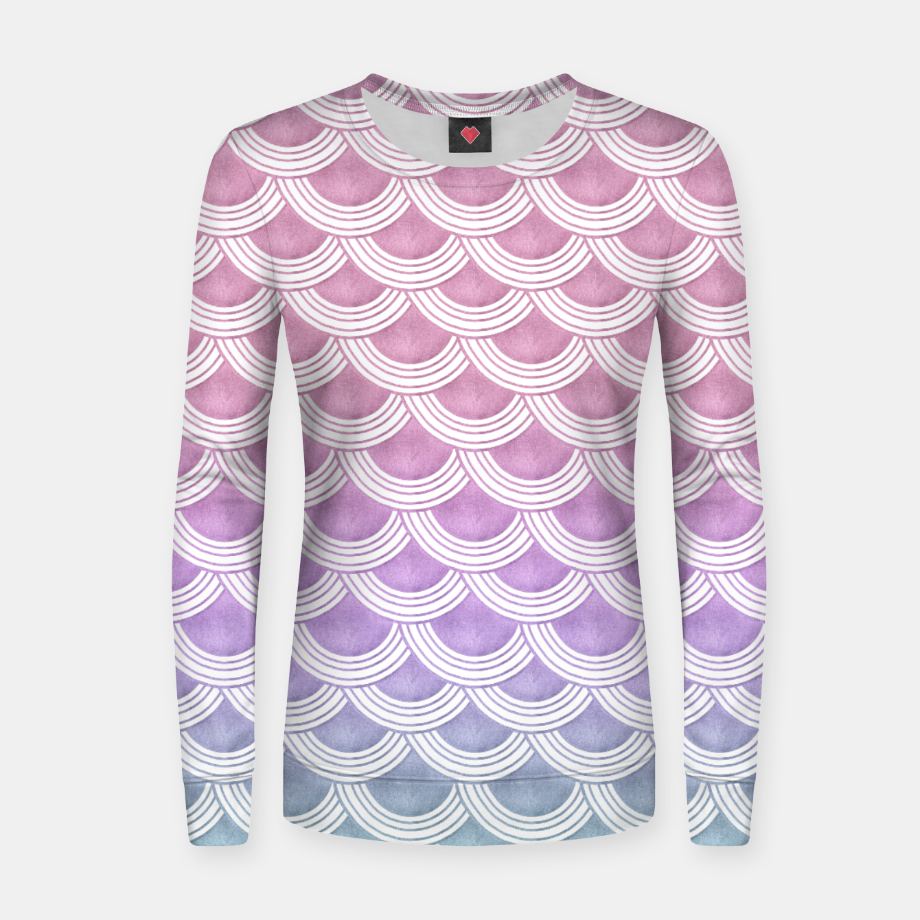 Image of Unicorn Pastel Mermaid Scales #1 #pastel #decor #art  Frauen sweatshirt - Live Heroes