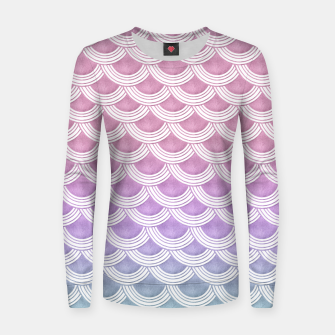 Unicorn Pastel Mermaid Scales #1 #pastel #decor #art  Frauen sweatshirt thumbnail image