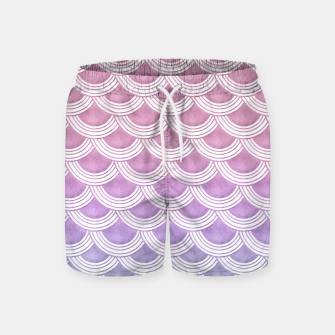 Unicorn Pastel Mermaid Scales #1 #pastel #decor #art  Badeshorts thumbnail image