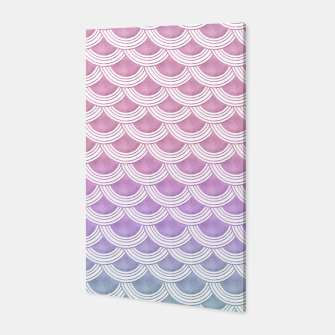 Unicorn Pastel Mermaid Scales #1 #pastel #decor #art  Canvas thumbnail image