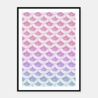 Unicorn Pastel Mermaid Scales #1 #pastel #decor #art  Plakat mit rahmen thumbnail image