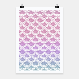 Miniature de image de Unicorn Pastel Mermaid Scales #1 #pastel #decor #art  Plakat, Live Heroes
