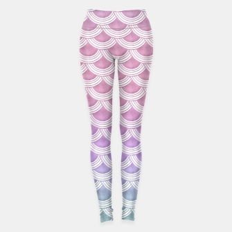 Unicorn Pastel Mermaid Scales #1 #pastel #decor #art  Leggings thumbnail image