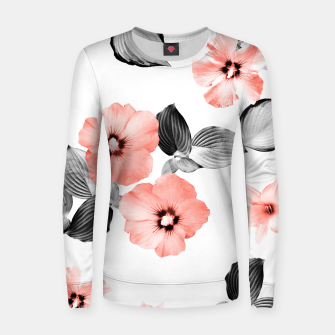 Miniature de image de Living Coral Floral Dream #4 #flower #pattern #decor #art  Frauen sweatshirt, Live Heroes