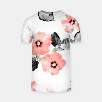 Miniature de image de Living Coral Floral Dream #4 #flower #pattern #decor #art  T-Shirt, Live Heroes