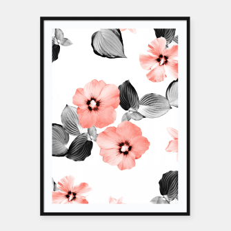 Miniature de image de Living Coral Floral Dream #4 #flower #pattern #decor #art  Plakat mit rahmen, Live Heroes