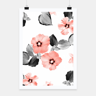 Miniature de image de Living Coral Floral Dream #4 #flower #pattern #decor #art  Plakat, Live Heroes