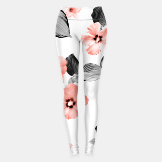 Miniature de image de Living Coral Floral Dream #4 #flower #pattern #decor #art  Leggings, Live Heroes