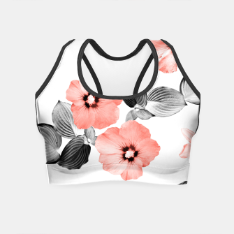 Miniature de image de Living Coral Floral Dream #4 #flower #pattern #decor #art  Crop Top, Live Heroes