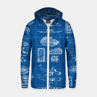 Thumbnail image of Classified Zip up hoodie, Live Heroes