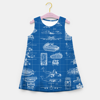 Miniatur Classified Girl's summer dress, Live Heroes