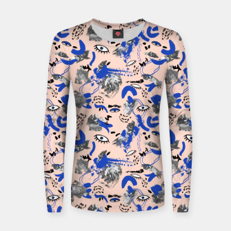 Thumbnail image of Abstract tribal brushstrokes Sudadera para mujeres, Live Heroes