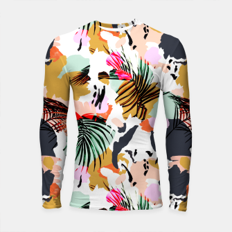 Miniature de image de Tropical abstract colorful  Longsleeve rashguard, Live Heroes