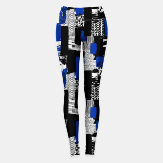 Miniatur Modern Artistic Abstract Leggings, Live Heroes