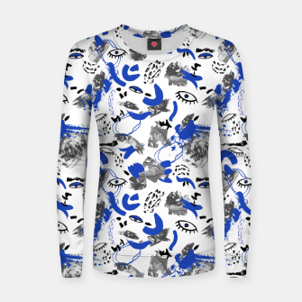 Thumbnail image of Abstract tribal brushstrokes II Sudadera para mujeres, Live Heroes