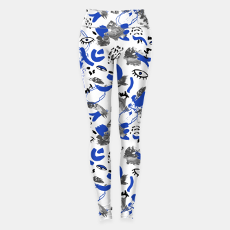 Miniaturka Abstract tribal brushstrokes II Leggings, Live Heroes
