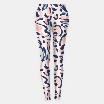 Modern brushstrokes pink Leggings miniature