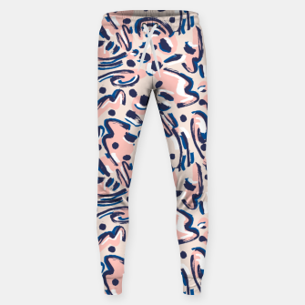 Thumbnail image of Modern brushstrokes pink Pantalones de chándal , Live Heroes