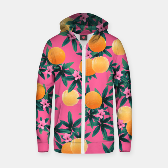 Miniaturka Orange Twist Flower Vibes #1 #tropical #fruit #decor #art Reißverschluss kapuzenpullover, Live Heroes