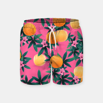 Miniaturka Orange Twist Flower Vibes #1 #tropical #fruit #decor #art Badeshorts, Live Heroes