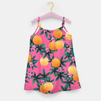 Miniaturka Orange Twist Flower Vibes #1 #tropical #fruit #decor #art Mädchenkleid, Live Heroes