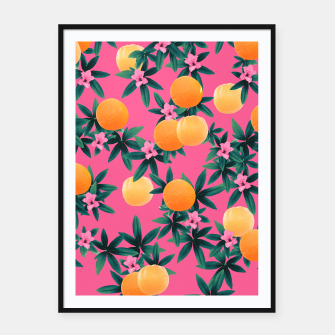 Miniaturka Orange Twist Flower Vibes #1 #tropical #fruit #decor #art Plakat mit rahmen, Live Heroes
