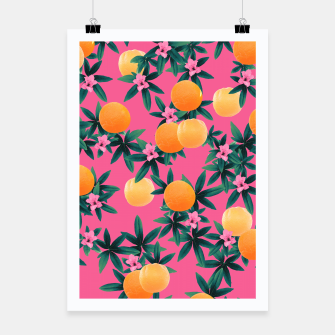 Miniature de image de Orange Twist Flower Vibes #1 #tropical #fruit #decor #art Plakat, Live Heroes