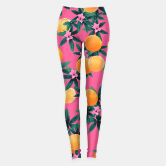 Miniaturka Orange Twist Flower Vibes #1 #tropical #fruit #decor #art Leggings, Live Heroes