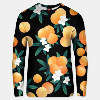 Miniaturka Orange Twist Flower Night Vibes #1 #tropical #fruit #decor #art Unisex sweatshirt, Live Heroes