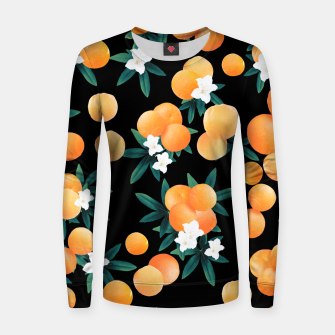 Miniaturka Orange Twist Flower Night Vibes #1 #tropical #fruit #decor #art Frauen sweatshirt, Live Heroes