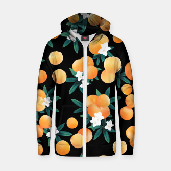 Miniature de image de Orange Twist Flower Night Vibes #1 #tropical #fruit #decor #art Reißverschluss kapuzenpullover, Live Heroes