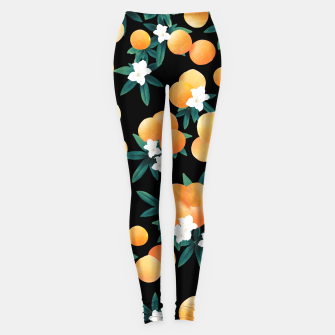 Miniature de image de Orange Twist Flower Night Vibes #1 #tropical #fruit #decor #art Leggings, Live Heroes
