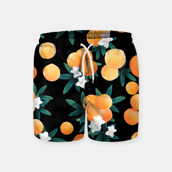 Miniaturka Orange Twist Flower Night Vibes #1 #tropical #fruit #decor #art Badeshorts, Live Heroes
