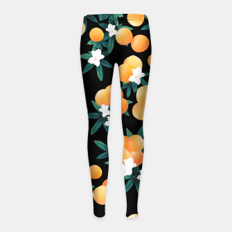 Miniaturka Orange Twist Flower Night Vibes #1 #tropical #fruit #decor #art Kinder-Leggins, Live Heroes