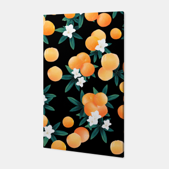 Miniaturka Orange Twist Flower Night Vibes #1 #tropical #fruit #decor #art Canvas, Live Heroes