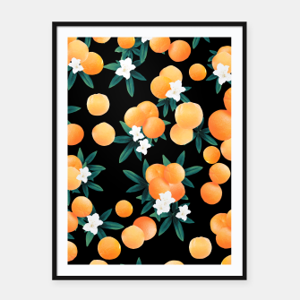 Miniaturka Orange Twist Flower Night Vibes #1 #tropical #fruit #decor #art Plakat mit rahmen, Live Heroes