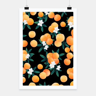 Miniaturka Orange Twist Flower Night Vibes #1 #tropical #fruit #decor #art Plakat, Live Heroes