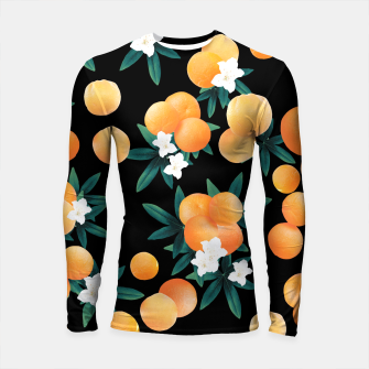 Miniature de image de Orange Twist Flower Night Vibes #1 #tropical #fruit #decor #art Longsleeve rashguard, Live Heroes