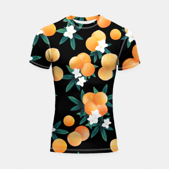 Miniaturka Orange Twist Flower Night Vibes #1 #tropical #fruit #decor #art Shortsleeve rashguard, Live Heroes