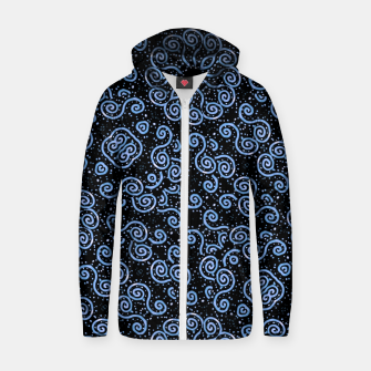 Miniaturka Spirals and Dots Motif Ornate Print Zip up hoodie, Live Heroes