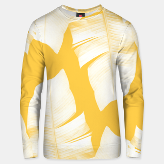 Tropical Yellow Banana Leaves Vibes #1 #decor #art  Unisex sweatshirt obraz miniatury
