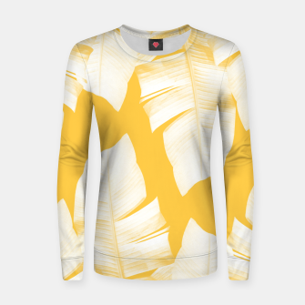 Miniature de image de Tropical Yellow Banana Leaves Vibes #1 #decor #art  Frauen sweatshirt, Live Heroes