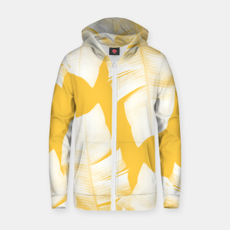 Miniature de image de Tropical Yellow Banana Leaves Vibes #1 #decor #art  Reißverschluss kapuzenpullover, Live Heroes