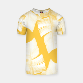 Tropical Yellow Banana Leaves Vibes #1 #decor #art  T-Shirt obraz miniatury
