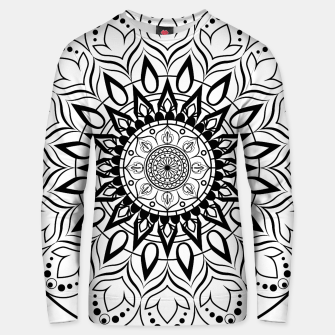 Miniaturka Black and White Mandala II Unisex sweater, Live Heroes