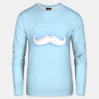 Thumbnail image of White Mustache Unisex sweater, Live Heroes